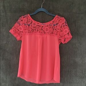 Mine lace top short sleeve shirt